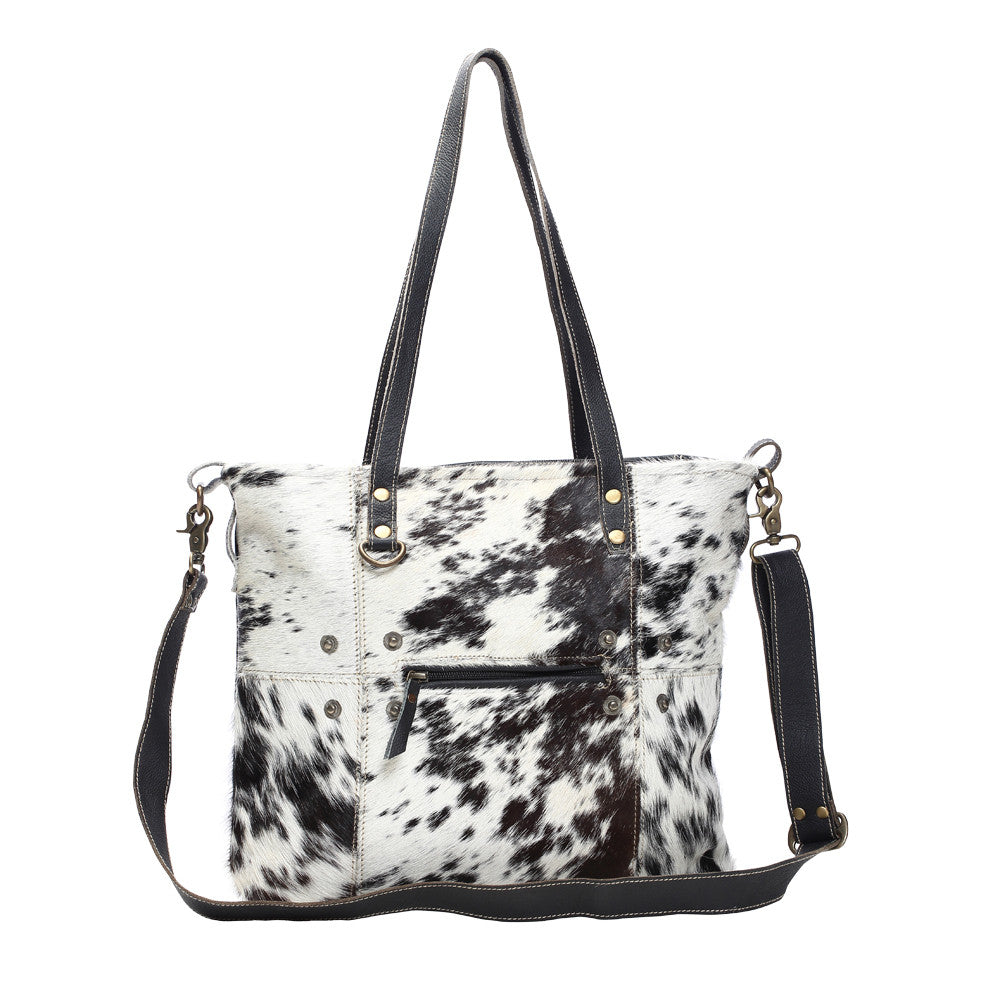 Black & White Shade Hair On Tote Bag