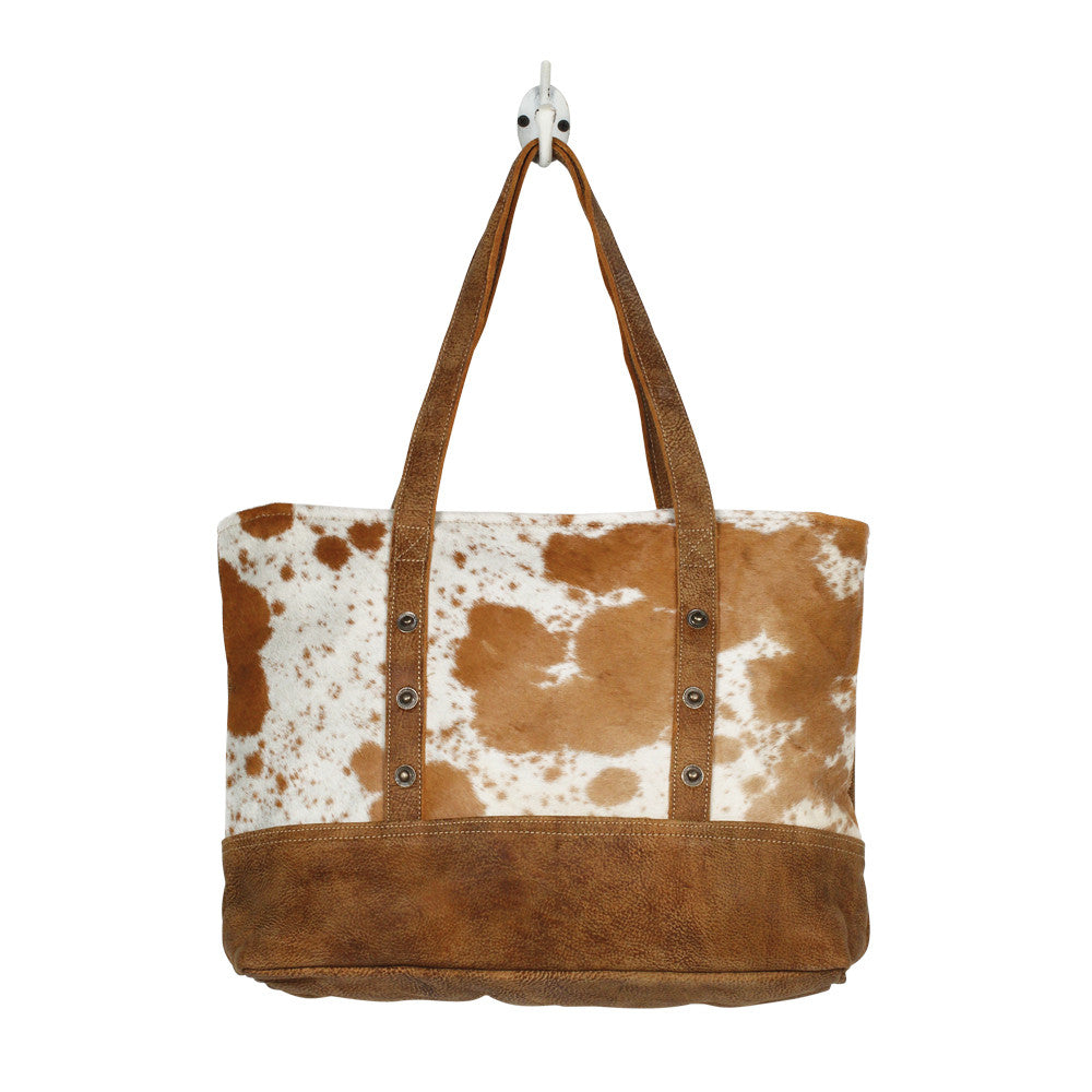 Vintage Cowhide & Leather Tote Bag