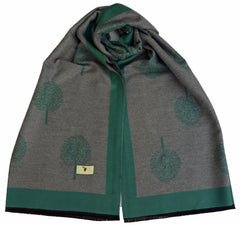 muberry tree scarf green