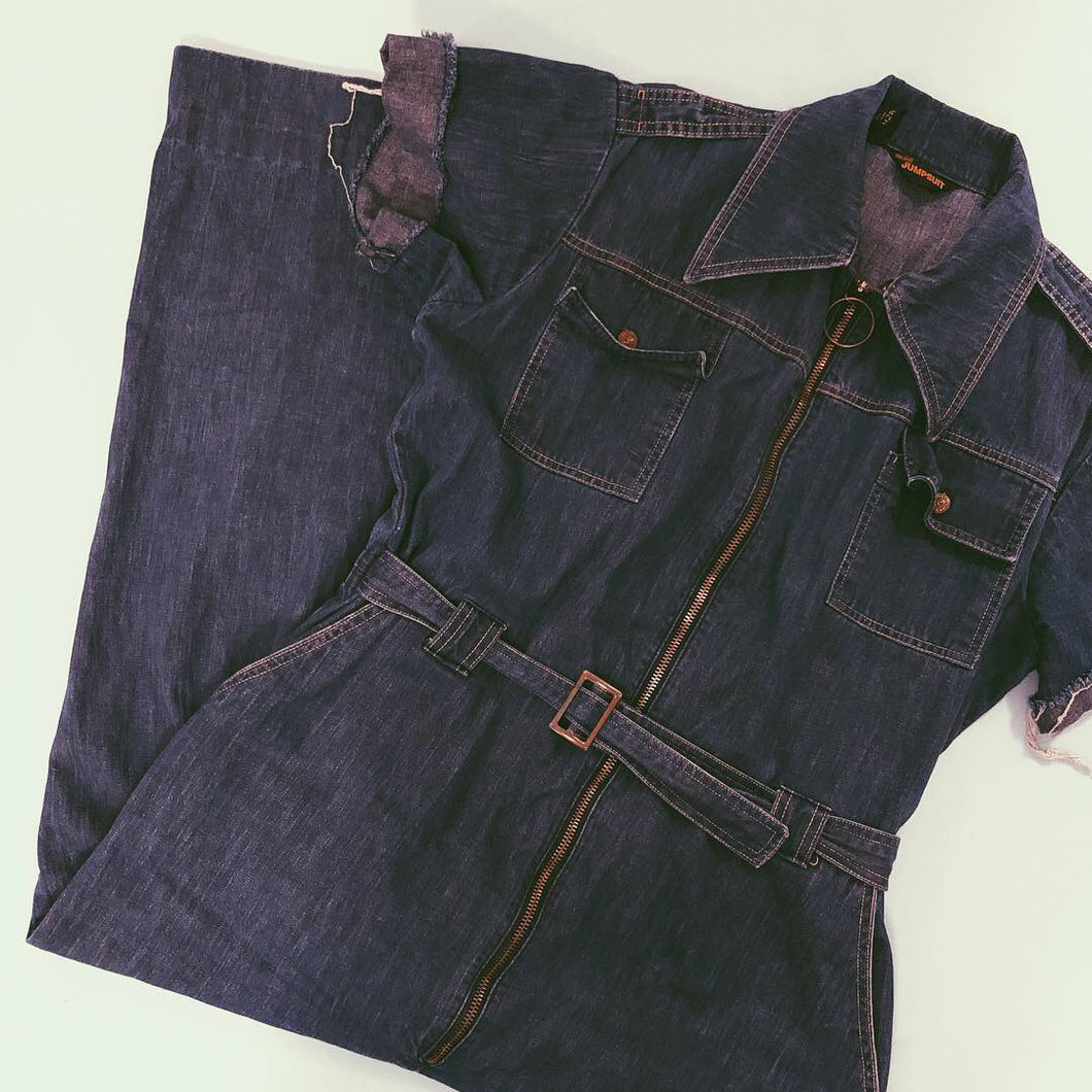 THE BLUE JEAN BABY JUMPSUIT