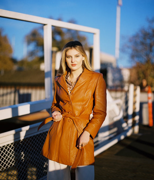 THE ORANGE LEATHER COAT
