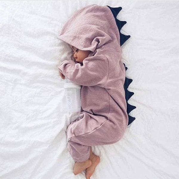 Lulu Dinosaur Jumpsuit (Dusty Pink)