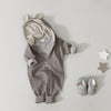 Lala Bambi Hood Jumpsuit  (Grey) - Greenberry Kids  - 9
