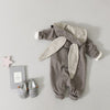 Lala Bunny Ears Hood Jumpsuit (Grey) - Greenberry Kids  - 6