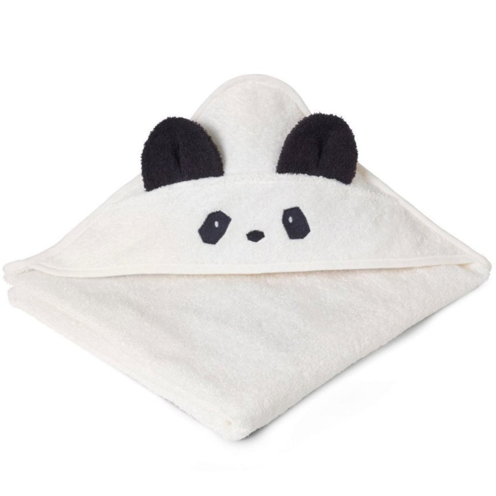 Liewood Panda Hooded Towel (Cream)
