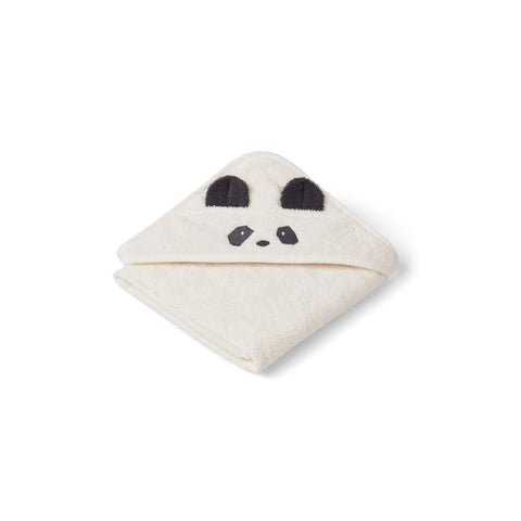 Liewood Albert Hooded Baby Towel (Panda Cream)
