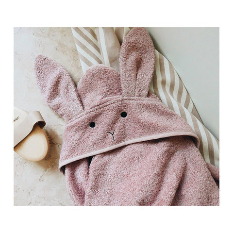 Liewood Rabbit Hooded Towel (Rose)