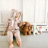 Lala Bunny Ears Hood Jumpsuit (Dusty Rose)