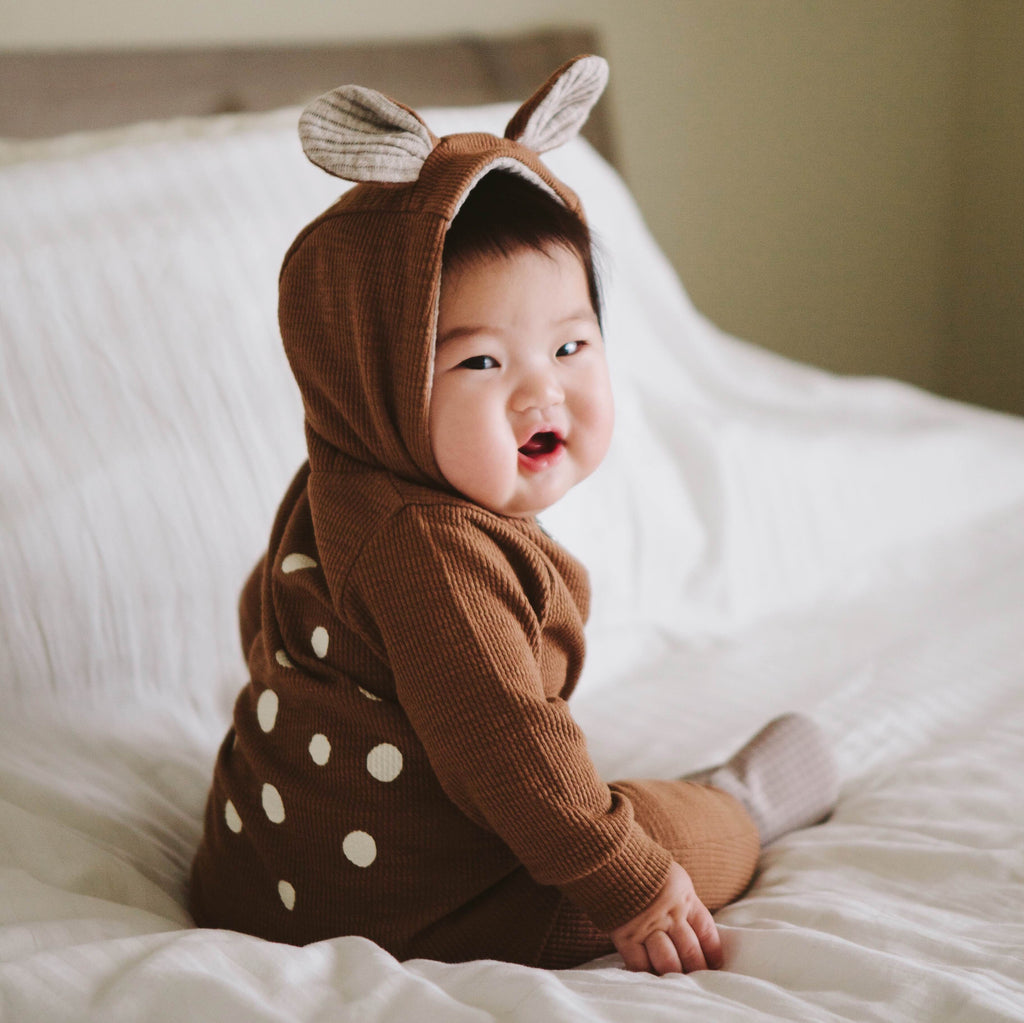 Lala Bambi Hood Jumpsuit (Camel) - Greenberry Kids  - 7