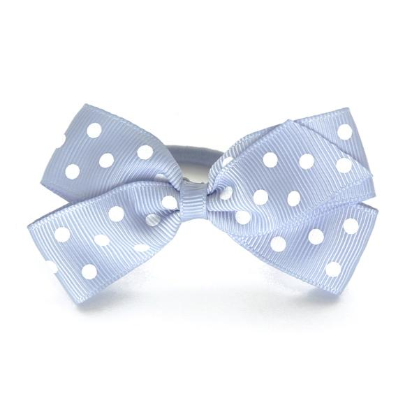 Verity Jones Medium Bluebell Polka Dot Hair Elastic