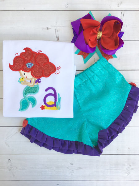 Handmade Disney outfit for girls that like The Little Mermaid