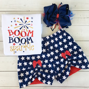 All American Girl - Boom Boom Sparkle Peek-A-Boo Shortie Set
