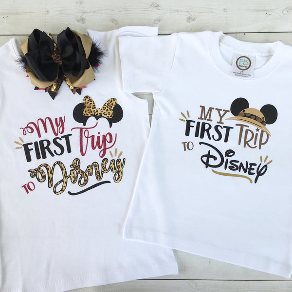 "Wild About Disney ""My First Trip"" (BOY) SHIRT ONLY"