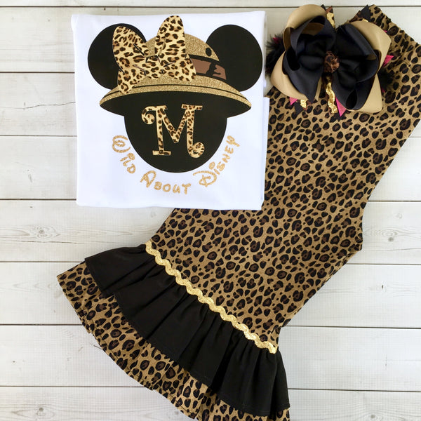 Wild About Disney Minnie-Inspired Double Ruffle Pant Set