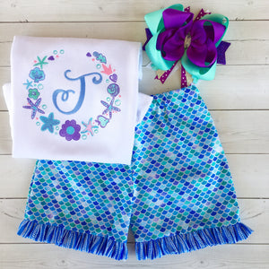 Mermaid Wishes - Ocean Frame Traditional Short Set