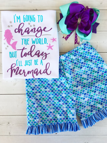 Mermaid Wishes - Glitter Change The World Traditional Short Set