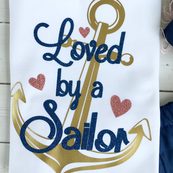 Loved By A Sailor (Navy Mom/Dad) SHIRT ONLY