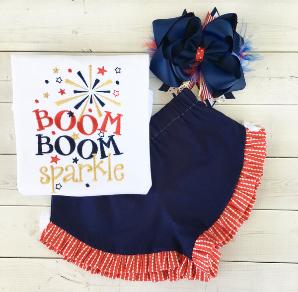 All American Girl - Boom Boom Sparkle Shirt ONLY