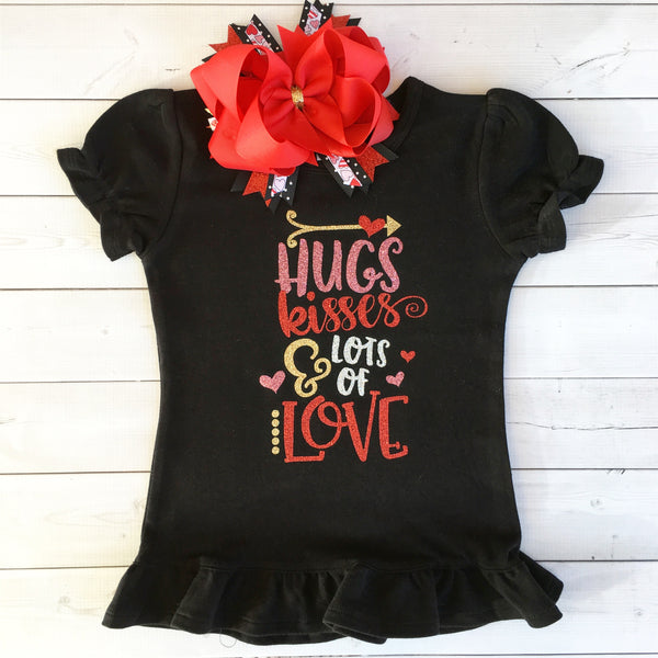 Hugs and Kisses Glitter SHIRT ONLY