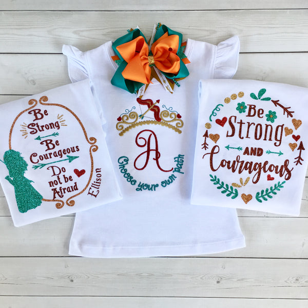 "Be Brave Little One - Glitter ""Be Strong"" Shirt ONLY"