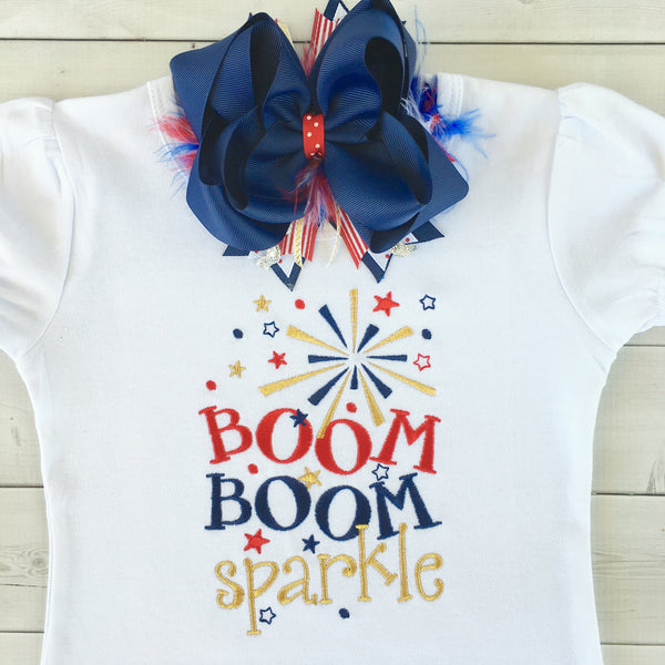 All American Girl - Boom Boom Sparkle Ruffled Short Set