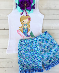 Mermaid Wishes - Mermaid Traditional Short Set