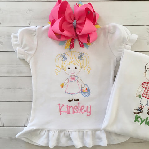 Easter's On Its Way Embroidered SHIRT ONLY