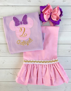 Prissy Miss Mouse Ruffled Short Set