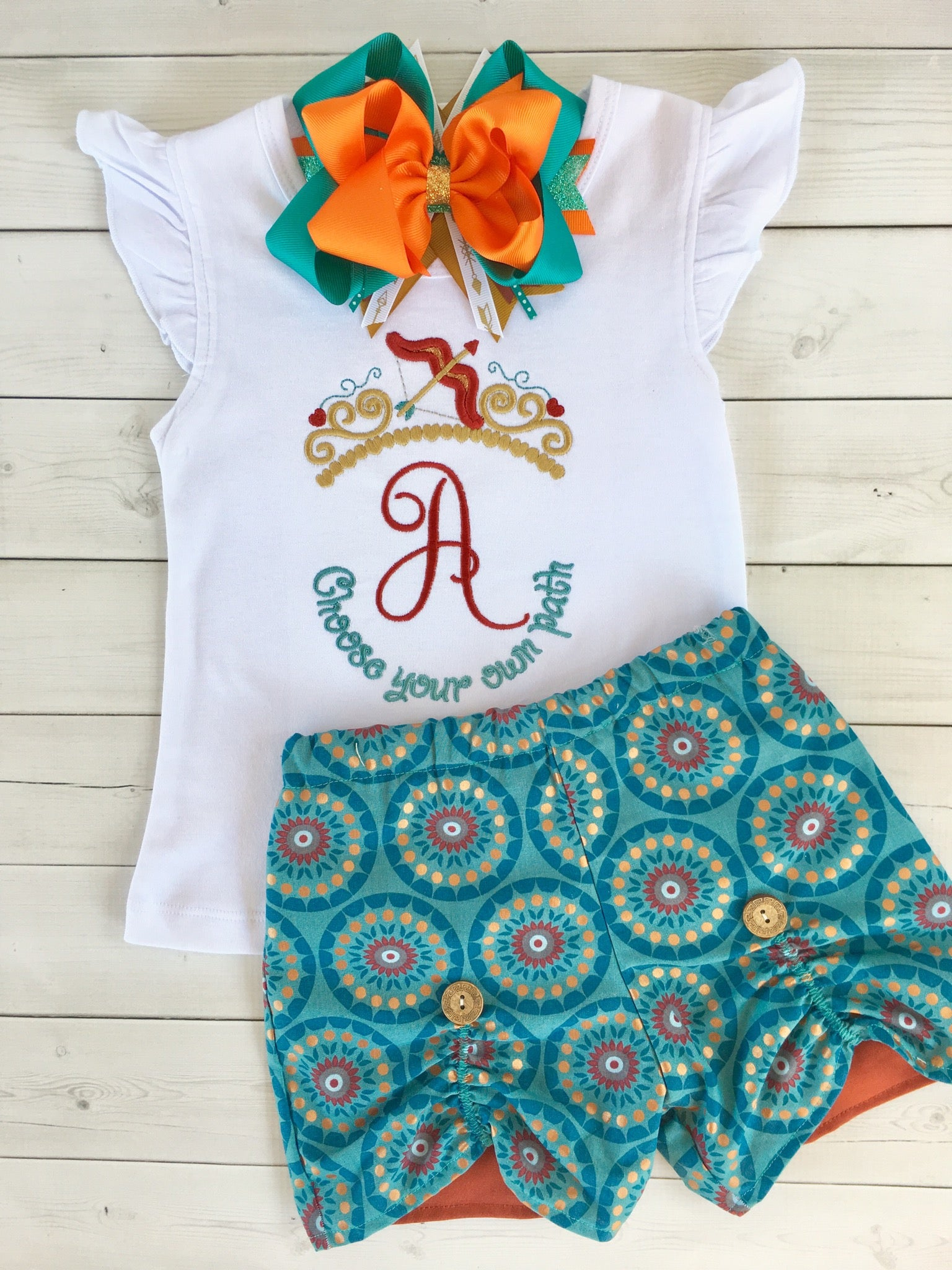 "Be Brave Little One - ""Choose Your Own Path"" Peek-a-boo Shortie Set"