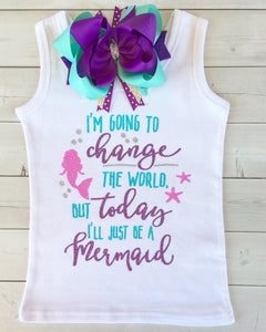 Mermaid Wishes - Glitter Change the World SHIRT ONLY