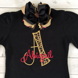 Woke Up Flawless Embroidered Initial SHIRT ONLY