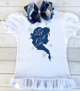 Snow Princess (Let It Go) Shirt Only