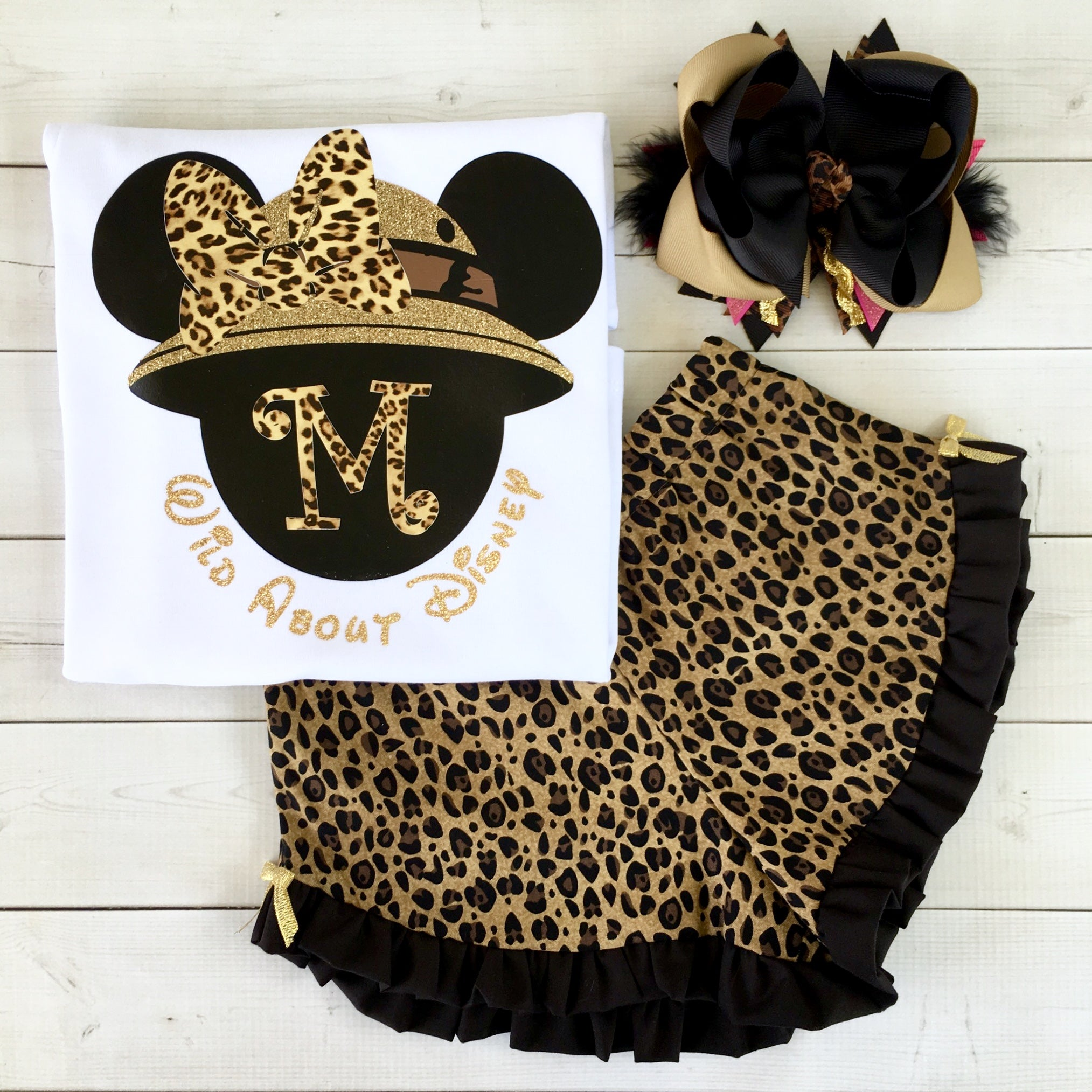 Wild About Disney Minnie-Inspired Ruffled Short Set