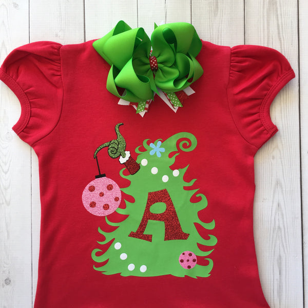 Crooked Christmas Tree Girls Shirt ONLY