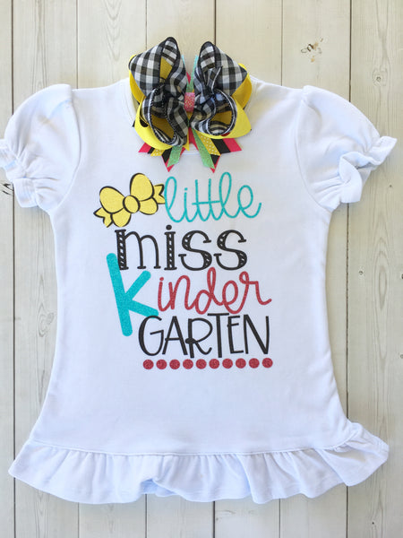 Little Miss *Any Grade* Back To School Glitter Vinyl SHIRT ONLY