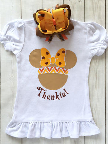Thanksgiving Girl Mouse Ears Shirt ONLY