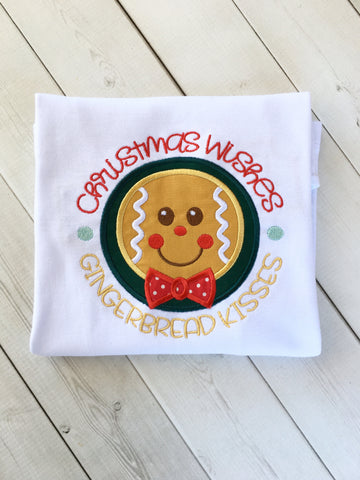 Boy's Embroidered Gingerbread Shirt ONLY