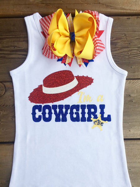 "Toy Story Inspired ""I'm A Cowgirl"" SHIRT ONLY"