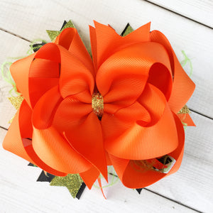 Pumpkin Parade Boutique Hair Bow