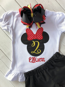 Minnie Mouse Birthday Celebration Embroidered SHIRT ONLY