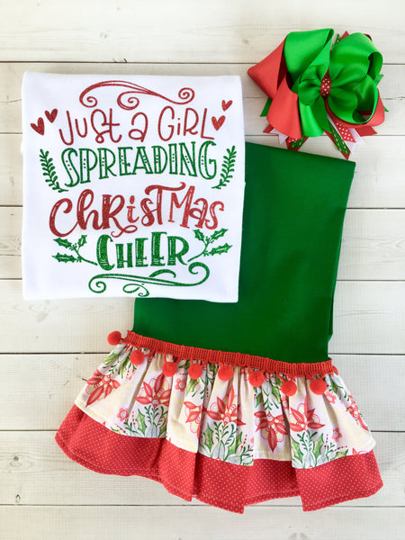 "Miss Mouse ""Spread Cheer"" Glitter Pant Set"