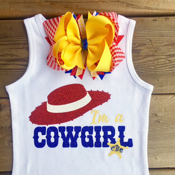 "Toy Story Inspired Jessie ""Cowgirl"" Ruffle Short Set"