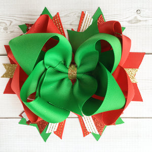 Jolly Christmas Boutique Hair Bow
