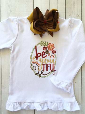 BeYOUtiful Embroidered Frame Shirt ONLY