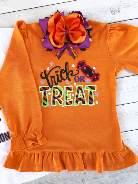 "Halloween Party-Embroidered Candy Shirt "" Only"""