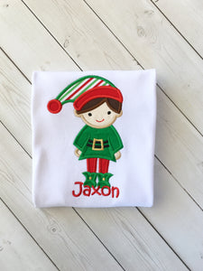 Jolly Christmas BOY Elf Shirt Only