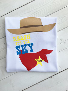 "Toy Story Inspired ""Reach For The Sky"" Boy's SHIRT ONLY"
