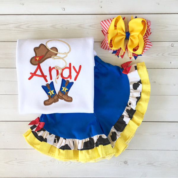 Toy Story Inspired GIRLS Woody Ruffle Short Set