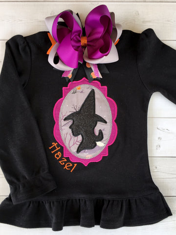 Embroidered Glitter Witch Shirt ONLY