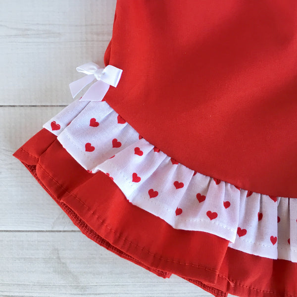 All Things Valentine Ombré Glitter Ruffle Shortie Set
